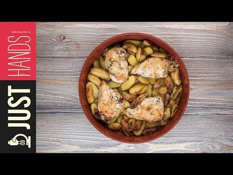 Roast Stuffed Chicken & Potatoes | Akis Kitchen