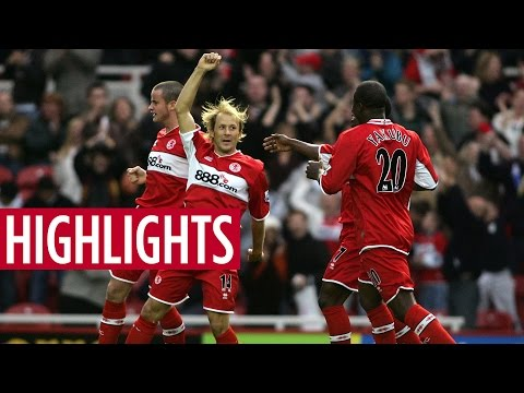 MATCH HIGHLIGHTS | Middlesbrough 4 Manchester United 1 - October 2005