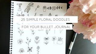 25 Simple Floral Doodles For Your Bullet Journal