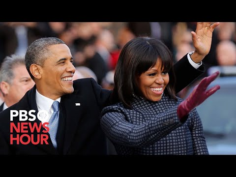 President Obama and Family Leave for Capitol in Motorcade