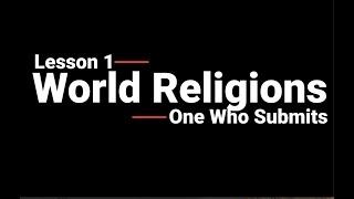 World Religions Lesson 1