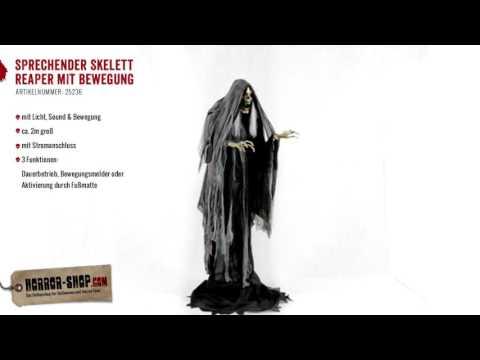 Sprechender Skelett Reaper Halloween Animatronic