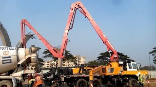 Putzmeister Boom Pump    Use in    First Dhaka Elevated Expressway (PPP) Project    Update 2018
