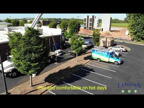 Logan HVAC installs a Carrier split system for a restaurant in Mooresville, NC.