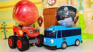 Мультики про машинки Автобус ТАЙО и Киндер Машинки Монстр Траки Вспыш Мультфильмы для детей