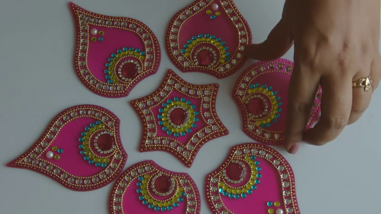 acrylic rangoli tutorials by beads art