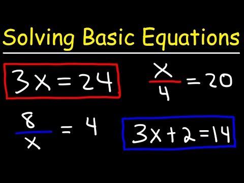 Algebra Basics - Solving Basic Equations - Quick Review!