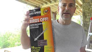 Harmless way to Stop birds from building nests next to your house