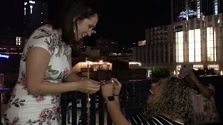 Adorable Moment Couple Propose At The Same Time