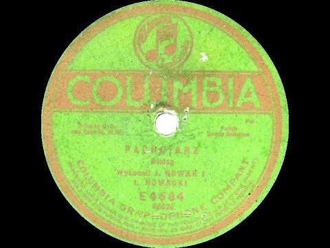 Polish 78rpm recordings, 1920. Columbia E4684. U profesora muzyki / Pachciarz