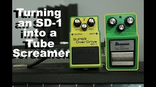 How to turn a $30 overdrive pedal into a $180 pedal  -- The Boss SD-1 turned into a TS808
