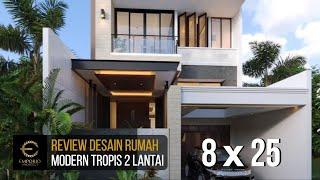 Video Desain Rumah Modern 2 Lantai Bapak RM di  Bogor, Jawa Barat