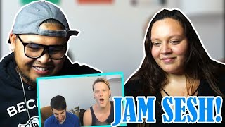 【Pentatonix】+ Random jamming/Singing on the fly   COUPLE'S REACTION   TOO FUNNY!