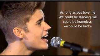 Justin Bieber -  As long as you love me Acoustic lyric video - Video Youtube
