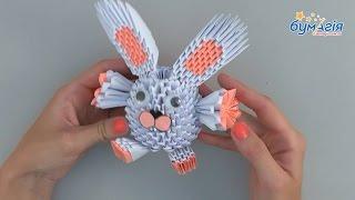 """Набор для творчества 3D оригами """"Белый зайчик"""" от компании Интернет-магазин """"Радуга"""" - школьные рюкзаки, канцтовары, творчество - видео"""