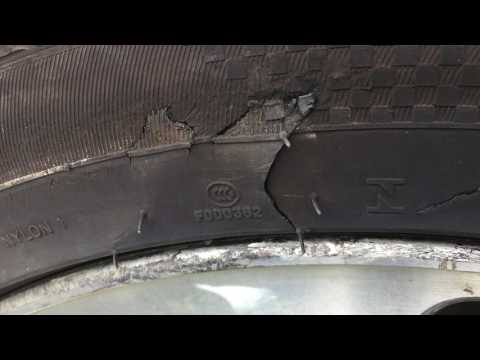Tire Sidewall damage How much is too much damage on your car tyre.