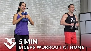 5 Minute Biceps Workout At Home - Bicep Workout With Dumbbells - Home Bicep Exercises Routine