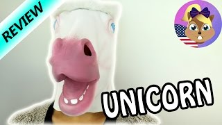 Unicorn Mask for Halloween | Funny Unicorn Outfit | Review