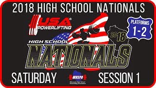 Saturday - Session 1 (PL 1-2) - 2018 USA Powerlifting High School Nationals | Kholo.pk