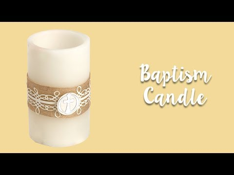How to Decorate a Baptism Candle!