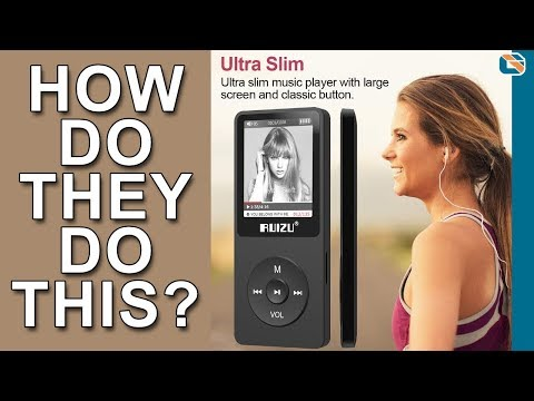 Ultra Slim MP3 Digital Music Player – Ruizu X02