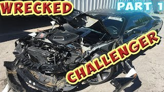 Rebuilding Wrecked 2015 Challenger Shaker R/T bought at Copart (Part 1)