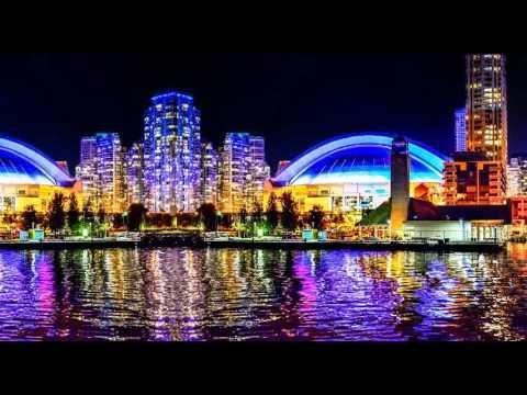 多伦多湖边夜景