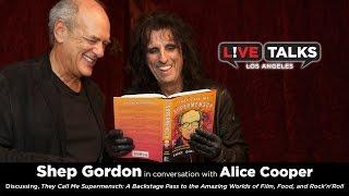 Shep Gordon with Alice Cooper