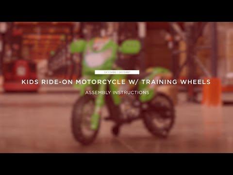 Assembly: Kids Ride-On Motorcycle w/ Training Wheels (SKY3486 SKY3487)
