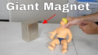 What Does a Giant Neodymium Magnet do to Stretch Armstrong?