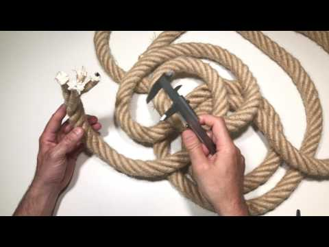 Cables decorativos de tamaño y grosor XXL gigantes
