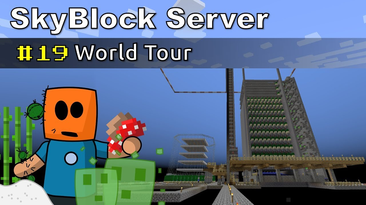Minecraft SkyBlock ep19 | World Tour