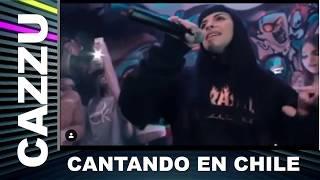 CAZZU CANTANDO EN CHILE 2019