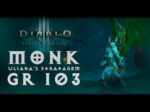Diablo III - Monk (Uliana's Stratagem (Стратегема Ульяны) - 2100%) | GR 103 - Before season 16