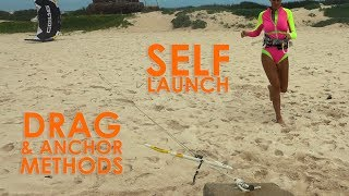 #12 Kiteboarding Beginner – Self launch and drag