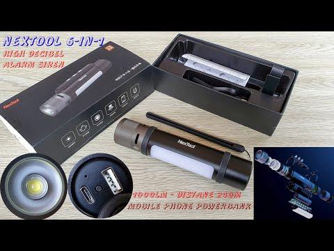 NEXTOOL 6-in-1 1000 Lumens Dual light Zoomable Alarm Flashlight - Best Value 2020