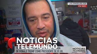Residentes de Los Ángeles reaccionan a toma de posesión | Noticiero | Noticias Telemundo