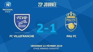 J23 : FC Villefranche B. - Pau FC (2-1), Le Résumé I National FFF 2018-2019