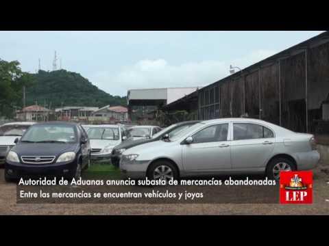Autoridad de Aduanas anuncia subasta de mercancías abandonadas