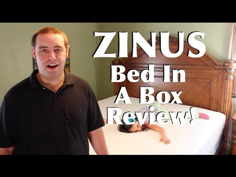 Bed In A Box Zinus King Size Mattress and Smart Base Full Review!