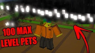 I Bought 100 MAX PETS And Became TOO OP (Roblox Harvesting Simulator)