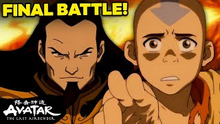FULL Uncut Aang Vs. Fire Lord Ozai Final Battle 🔥| Avatar
