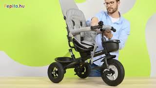 Kinderkraft Aveo 360°-ban megfordítható Tricikli #szürke