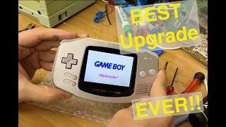 GameBoy Advance Backlight Upgrade! So Good.