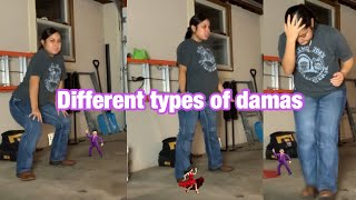 types of damas at quinceanera🤠!