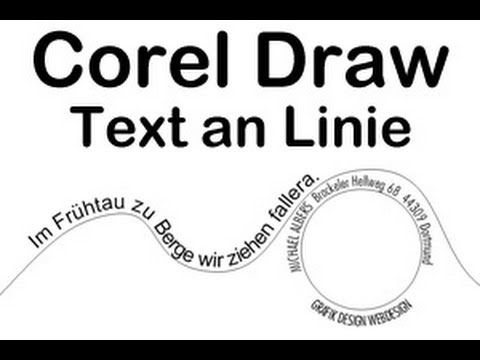 Corel / Text an Linie ausrichten Tipp deutsch