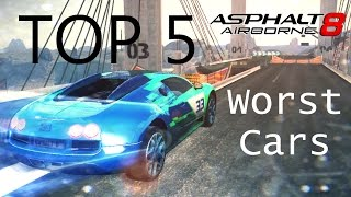 Asphalt 8: Top 5 Worst Cars