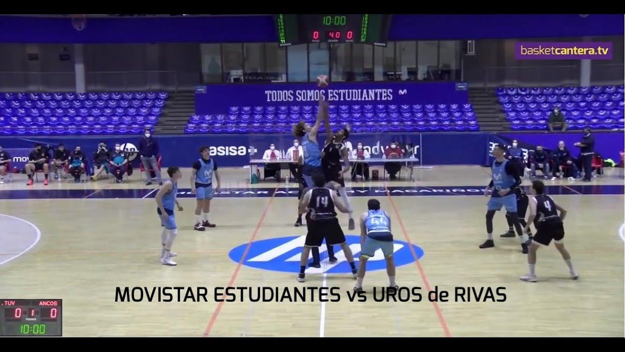 EBA - MOVISTAR ESTUDIANTES vs UROS de RIVAS.- Liga EBA (6/02/2021) #BasketCantera.TV