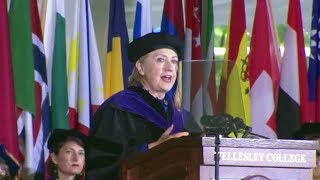 Hillary Clinton commencement speech at Wellesley College. May 26, 2017.