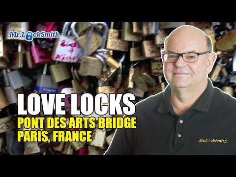 Love Locks Pont Des Arts Bridge Paris France | Mr. Locksmith Video